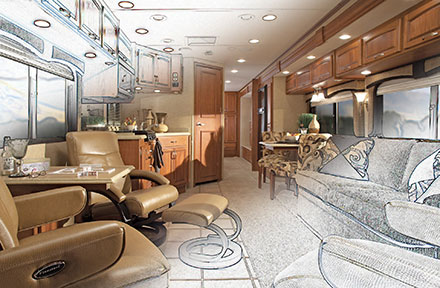 New Debut RV Interior Conversion