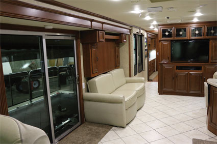 RV Motorhome Front Porch